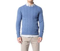 Pullover, Lammwolle, himmelblau