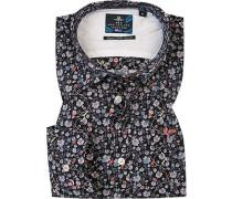 Hemd, Popeline, multicolor gemustert
