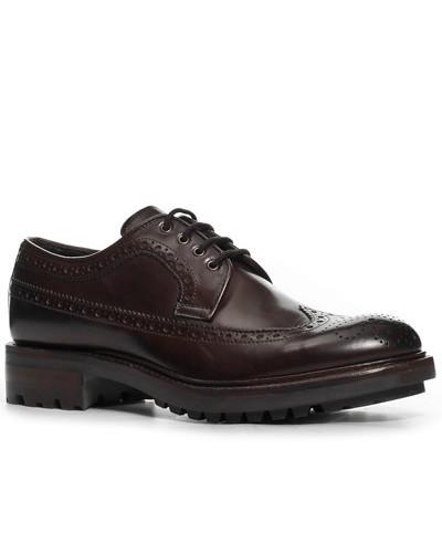 Schuhe Brogue, Kalbleder glatt