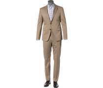 Anzug, Slim Fit, Baumwolle, sand