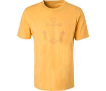T-Shirt, Baumwolle, maisgelb