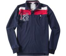 Polo-Shirt Polo, Baumwoll-Jersey, navy