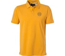 Polo-Shirt Polo, Baumwoll-Jersey, maisgelb