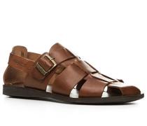 Schuhe Sandalen, Rindleder, mittelbraun