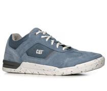 Sneaker, Veloursleder-Textil, jeansblau