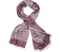 Schal, Baumwolle, -weiß gemustert
