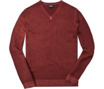 Pullover, Schurwolle, ziegelrot