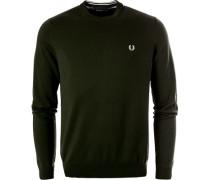 Pullover, Baumwolle, olivgrün