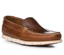 Schuhe Mokassin, Leder, cognac