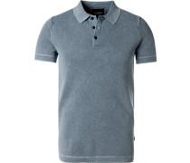 Polo-Shirts, Baumwolle, hellgrau