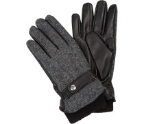 Handschuhe, Lammleder-Wolle, -grau