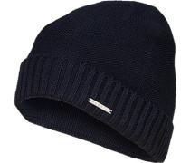 Mütze, Wolle, dunkelblau