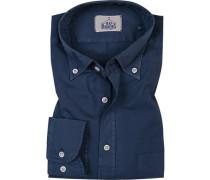 Hemd, Regular Fit, Baumwolle, dunkelblau