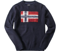 Pullover, Wolle, marine