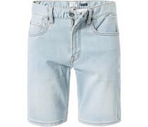 Jeansshorts, Baumwoll-Stretch, eisblau