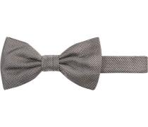 Krawatte Schleife, Seide, grau