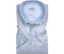 Kurzarmhemd, Tailor Fit, Oxford, hellblau
