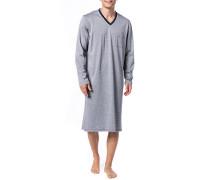 Nachthemd, Baumwolle, navy gestreift