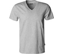 T-Shirt, Baumwolle, hellgrau meliert
