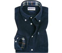 Hemd, Tailored Fit, Cord, navy