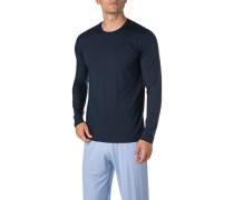 Schlafanzug Longsleeve, Mikrofaser