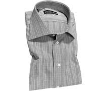 Hemd, Slim Fit, Popeline, schwarz-weiß