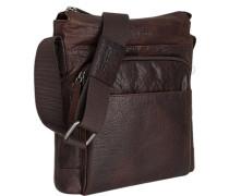 Tasche Umhängetasche, Leder, dunkelbraun