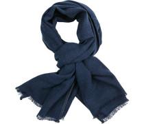 Schal, Baumwolle, jeansblau