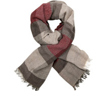 Schal, Alpaka-Wolle, -rot gemustert