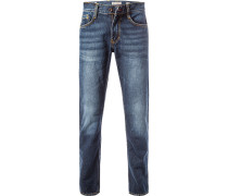 Blue-Jeans, Slim Fit, Baumwolle, denim
