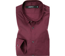 Hemd, Slim Fit, Popeline, bordeaux