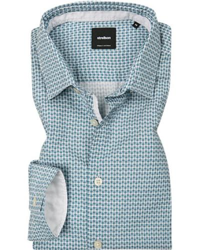 Hemd, Popeline, gemustert