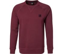 Sweatshirt, Baumwolle, dunkelrot