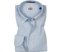 Hemd, Regular Fit, Baumwolle, hellblau
