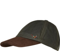Cap, gewachste Baumwolle, grau-