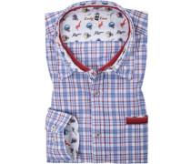 Hemd, Popeline, -rot-weiß kariert