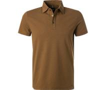 Polo-Shirt Polo, Baumwoll-Jersey, hellbraun
