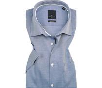 Hemd, Modern Fit, Baumwolle, navy