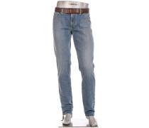 Blue-Jeans Slipe, Regular Slim Fit, Baumwoll-Stretch