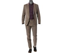 Cord-Anzug, Slim Fit, Baumwolle