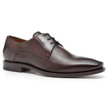 Schuhe Derby, Kalbleder, kaffebraun