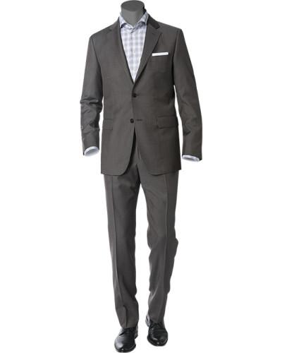 Anzug, Wolle, braungrau meliert