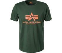 T-Shirt, Baumwolle, dunkelgrün