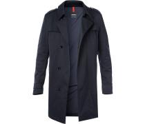 Mantel, Twill wasserabweisend, nachtblau