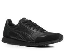 Schuhe Sneaker, Velours- und Glattleder