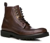 Schuhe Stiefeletten, Leder, kastanienbraun