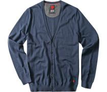 Cardigan, Baumwolle-Wolle, jeansblau