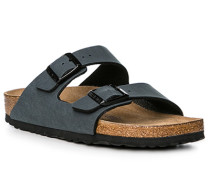 Schuhe Pantoletten, Leder, graublau