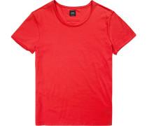 T-Shirt, Regular Fit, Baumwolle, hellrot