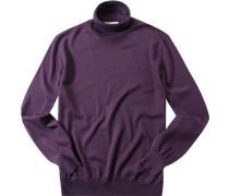 Pullover, Merinowolle, purpur